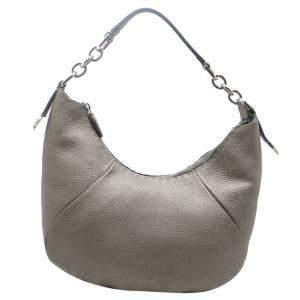 حقيبة فندي سيليريا جلد فضي متوسطة بسلسلة