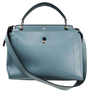 حقيبة فندي دوت كوم جلد أزرق مخضر