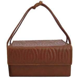 Fendi Brown Vintage Box Clutch Bag