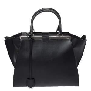 Fendi Black Leather 3Jours Tote