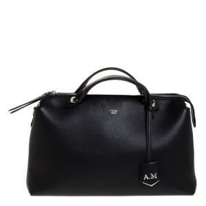 Fendi Black Leather Medium By The Way Boston Bag