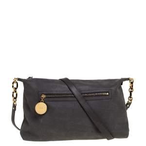 Fendi Grey Suede Crossbody Bag