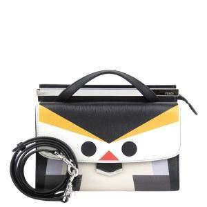 حقيبة فندي مونستر دمي جور جلد متعددة الألوان