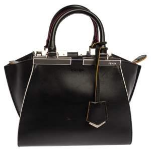 Fendi Black Leather Petite 3Jours Tote