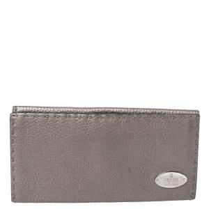 Fendi Metallic Selleria Leather Continental Wallet