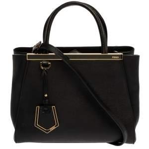 حقيبة يد فندي 2جور ميني جلد سوداء