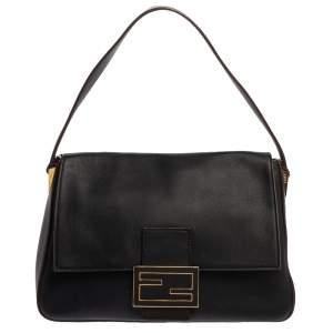 Fendi Black Leather Mama Forever Shoulder Bag