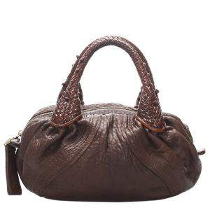 Fendi Brown Leather Spy Hobo