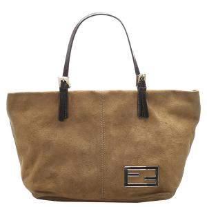 Fendi Brown Suede Tote Bag