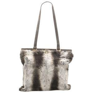 Fendi Black/White Fur Tote Bag
