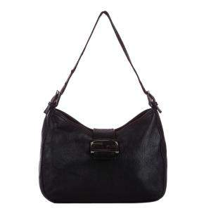 Fendi Black Leather Mamma Forever Shoulder Bag