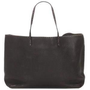 Fendi Brown Leather Selleria Tote