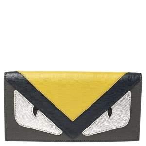 Fendi Multicolor Leather Monster Flap Continental Wallet