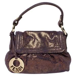 Fendi Holographic Shimmering Leather Mini Chef Hobo