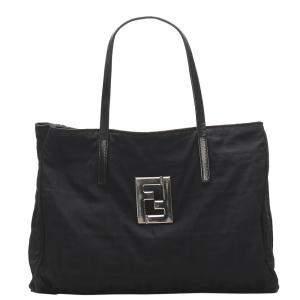 Fendi Black Nylon Zucca Bag