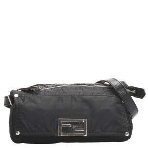 Fendi Black Nylon Zucchino Bag