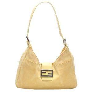 Fendi Yellow Fabric Hobo Bag