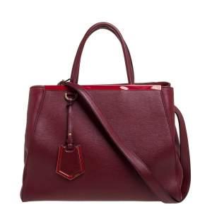 Fendi Red Leather Medium 2jours Tote