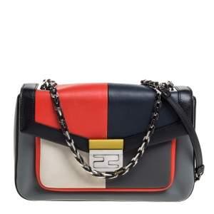 Fendi Multicolor Leather Be Baguette Shoulder Bag