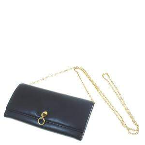 Fendi Black Leather  By The Way Wallet On Chain