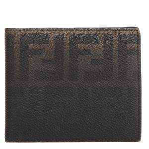 Fendi Brown Zucca Canvas Bifold Wallet