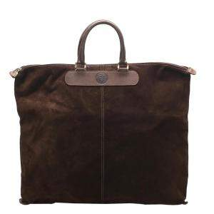 Fendi Brown/Dark Brown Suede Tote Bag