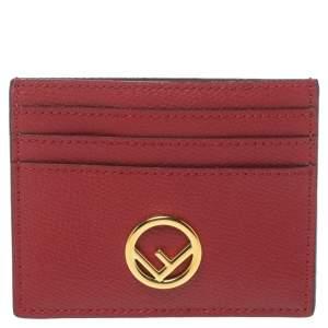 Fendi Red Leather F is Fendi Card Holder