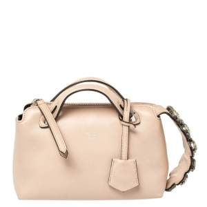 Fendi Beige Leather By The Way Crossbody Bag