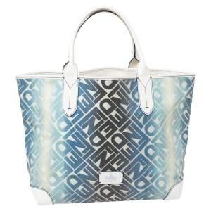 حقيبة يد فندي شوبر كانفاس مقوى مطبوع شعار الماركة مونوغرامي متعدد الألوان
