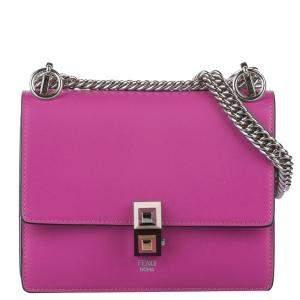 Fendi Pink Leather Kan I Bag