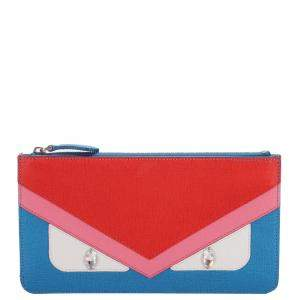 Fendi Multicolor Monster Leather Clutch Bag