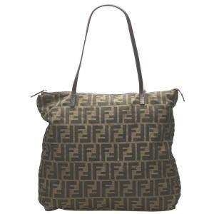 Fendi Brown/Dark Brown Zucca Canvas Shoulder Bag
