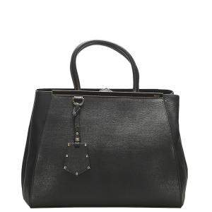 Fendi Black Leather 2Jours Satchel bag