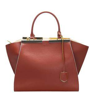 Fendi Red Leather 3Jours Satchel Bag