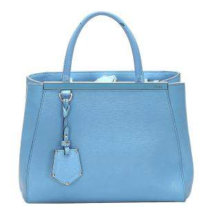 Fendi Blue Leather Petit 2Jours bag