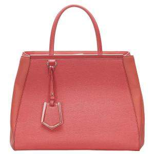 Fendi Red Leather Petit 2Jours bag