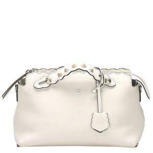 Fendi White Leather By The Way Bag