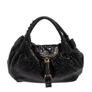 حقيبة فندي سباي جلد نابا أسود
