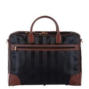 Fendi Brown/Black Pequin Nylon Duffel Bag