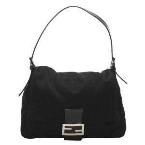 Fendi Black Wool Mama Shoulder Bag