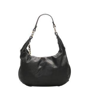 Fendi Black Leather Hobo Bag