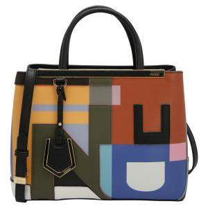 Fendi Multicolor Leather Mini 2Jours Tote Bag