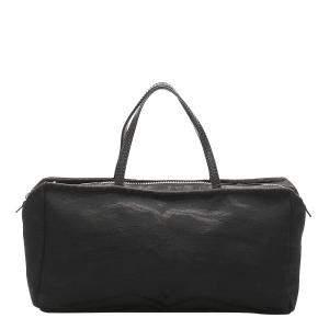 Fendi Black Canvas Leather Fabric Satchel