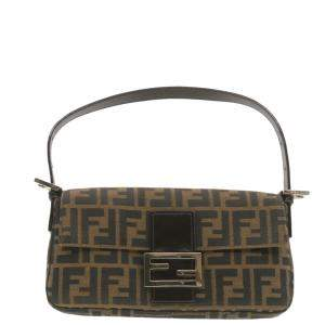 Fendi Brown Zucca Canvas Mamma Baguette Bag