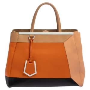 حقيبة فندي تو جور إليت جلد كتل لونية متوسطة
