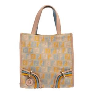 Fendi Multicolor Zucchino Canvas and Leather Mini Tote