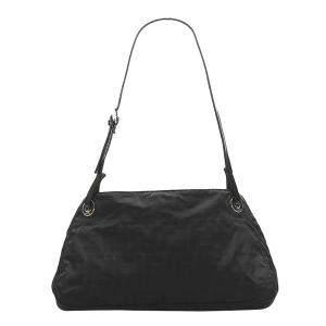Fendi Black Canvas Fabric Zucca Shoulder Bag