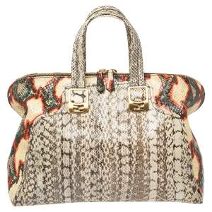 Fendi Multicolour Watersnake Large Chameleon Satchel