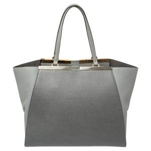 Fendi Grey Leather Large 3Jours Tote
