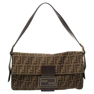 Fendi Tobacco Zucca Canvas Large Baguette Bag